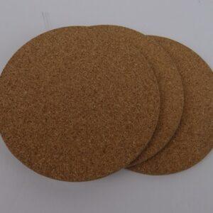 4 inch round cork coasters