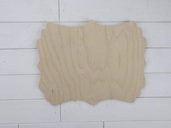 Blank Wooden Plaque - Veronica