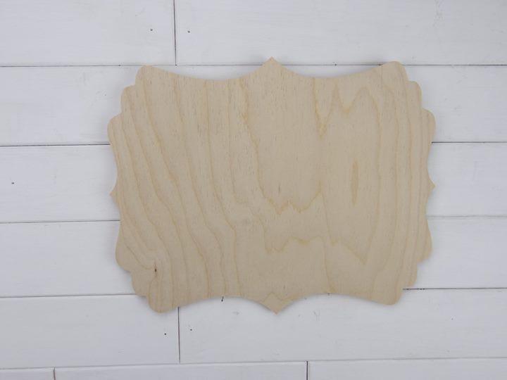 Blank Wooden Plaque Veronica