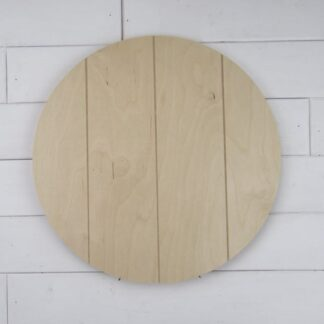 Faux Pallet Circle Cutouts
