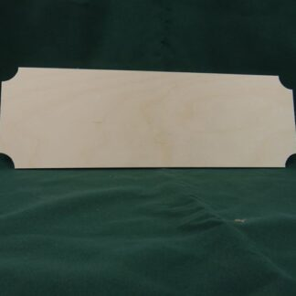 Blank Wooden Plaque - Cinema Style