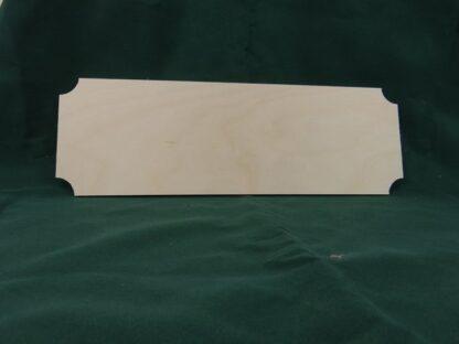 Blank Wooden Plaque Cinema Style