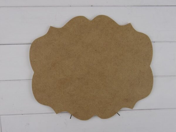 Blank Wooden MDF Plaque - Amy