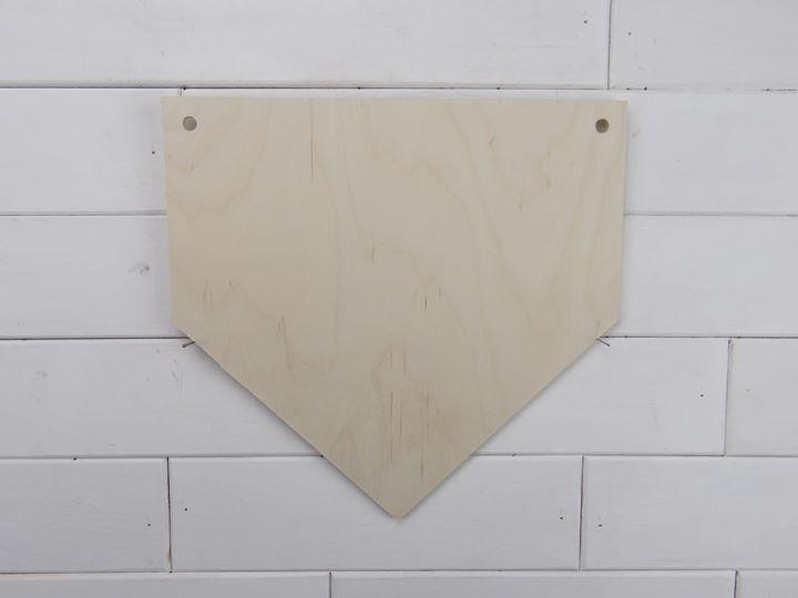 Home Plate Sign Blank Craft Dealz