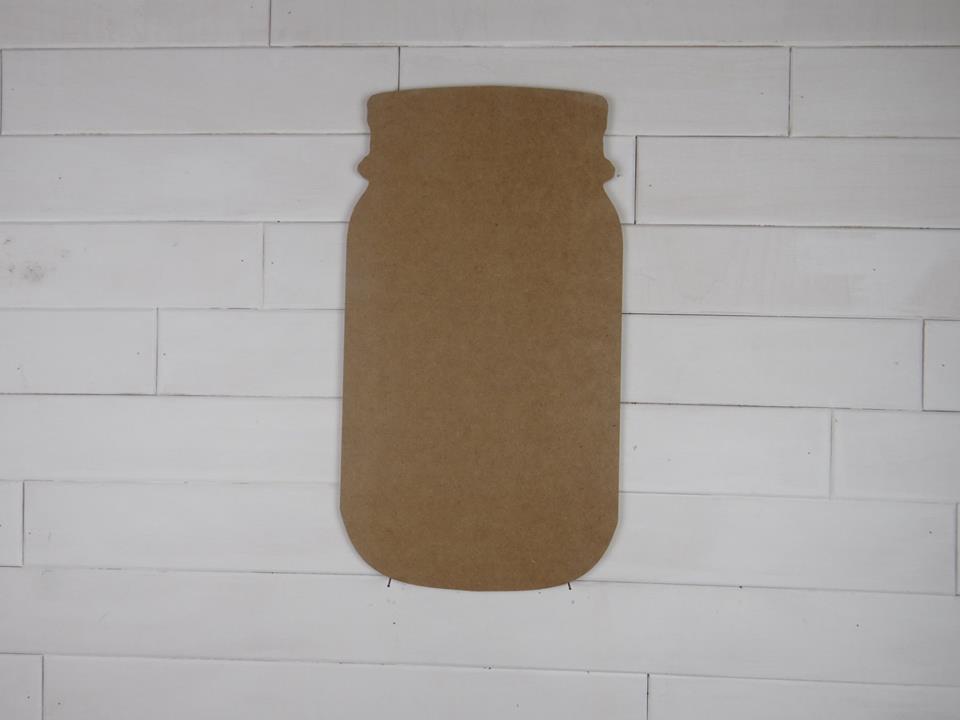 Blank Wooden Mason Jar Cutout