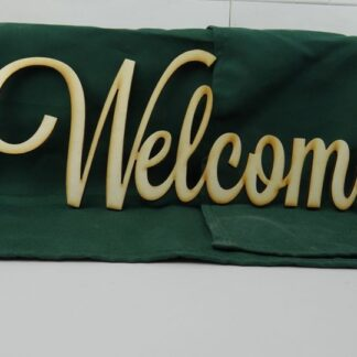 Wooden Welcome Cutout Sign
