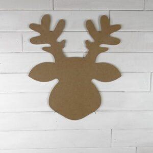 Wooden Reindeer Door Hanger