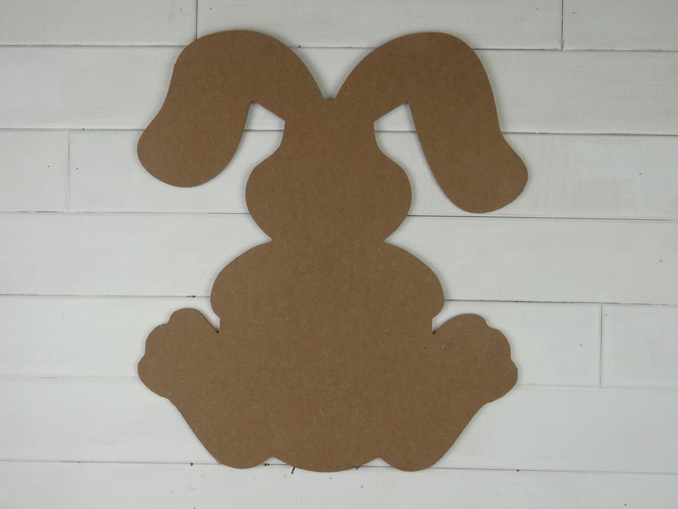 Wooden Sitting Bunny Cutout