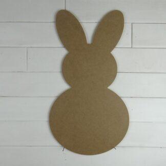 Wooden Bunny Door Hanger Blank