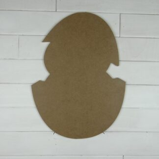 Wooden Hatching Egg Cutout Door Hanger