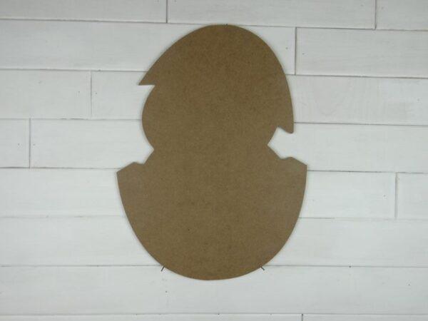 Wooden Hatching Egg Cutout Door Hanger