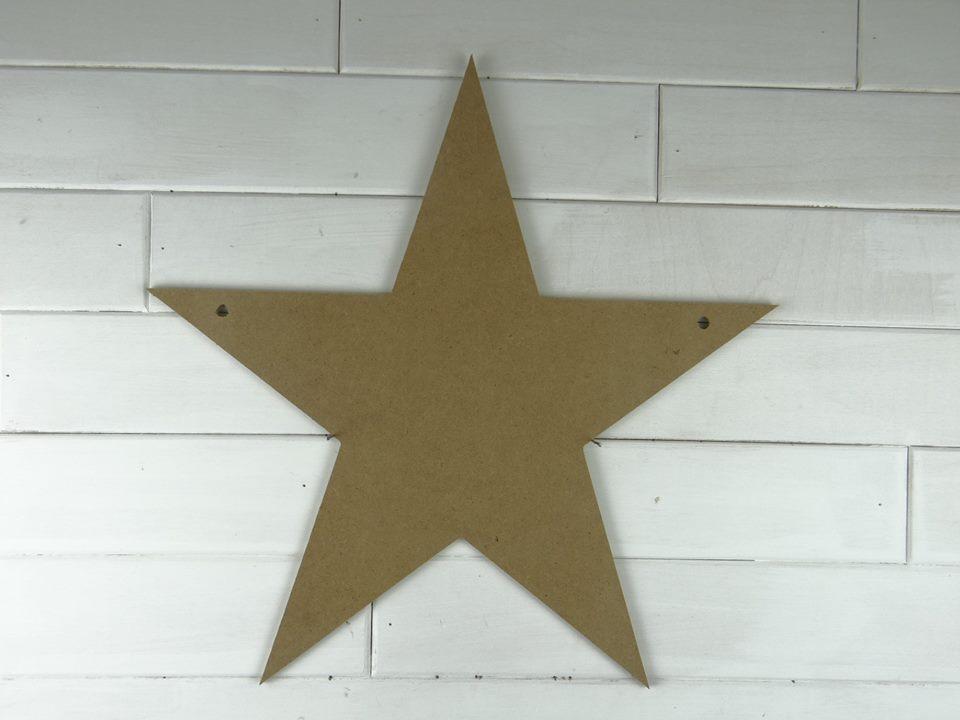 Wooden Star Door Hanger Craft Dealz