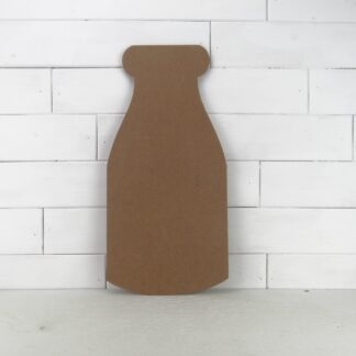 Wooden Milk Bottle Cutout