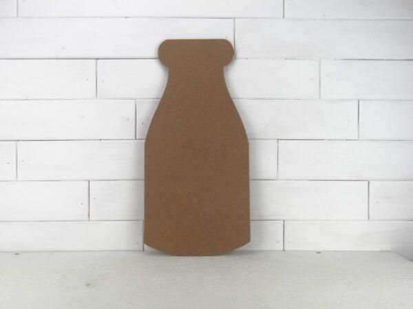 Wooden Milk Bottle Cutout