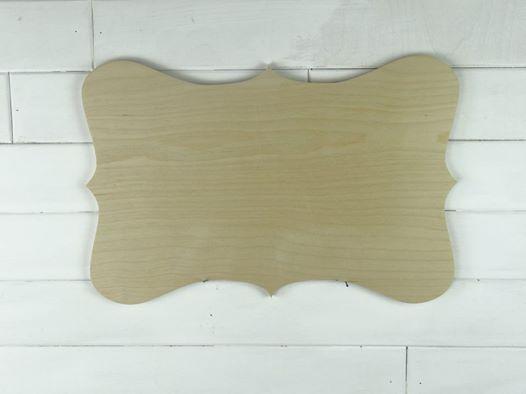 Blank Wooden Plaque - Christina
