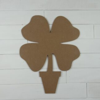 Wooden Four Leaf Clover Topiary Cutout