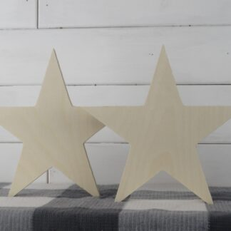 Wooden Star Cutouts