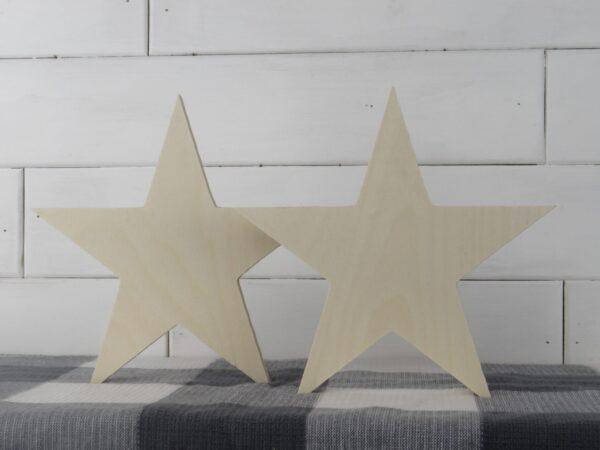 Wood Star Stand Alone Cutouts